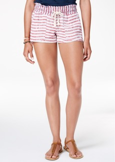 Roxy Juniors' Oceanside Flag Striped Shorts