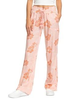 Roxy Juniors' Oceanside Floral-Print Pants