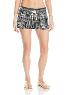 Roxy Junior's Oceanside Printed Beach Shorts Elastic Waist  XS