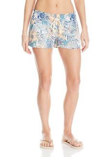 Roxy Junior's Oceanside Printed Beach Shorts Elastic Waist  XS