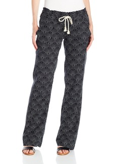 Roxy Juniors Oceanside Printed Pant in the Breeze True Black