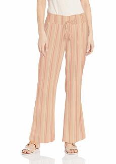 Roxy Women's Oceanside Yarn Dye Pant ivory cream Gamma Stripe XL