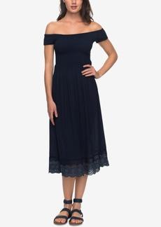 Roxy Juniors' Off-The-Shoulder Midi Dress