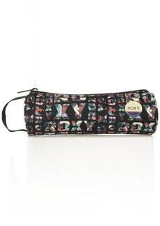 Roxy Women's Off the Wall Pencil Case Anthracite Small Urban Flavor ERJAA03325