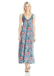 Roxy Junior's Optic Diamond Printed Maxi Dress  XL