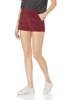 Roxy Junior's People Around Corduroy Shorts Oxblood red M