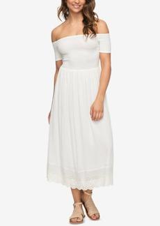 Roxy Juniors' Pretty Lovers Off-The-Shoulder Dress