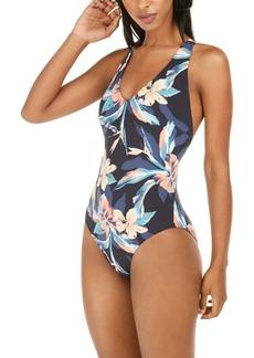 Roxy Juniors' Printed Beach Classics One-Piece Swimsuit Women's Swimsuit