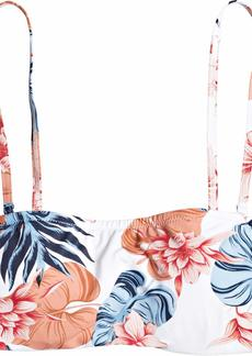 Roxy Junior's Printed Beach Classics Underwire Bandeau Top  L