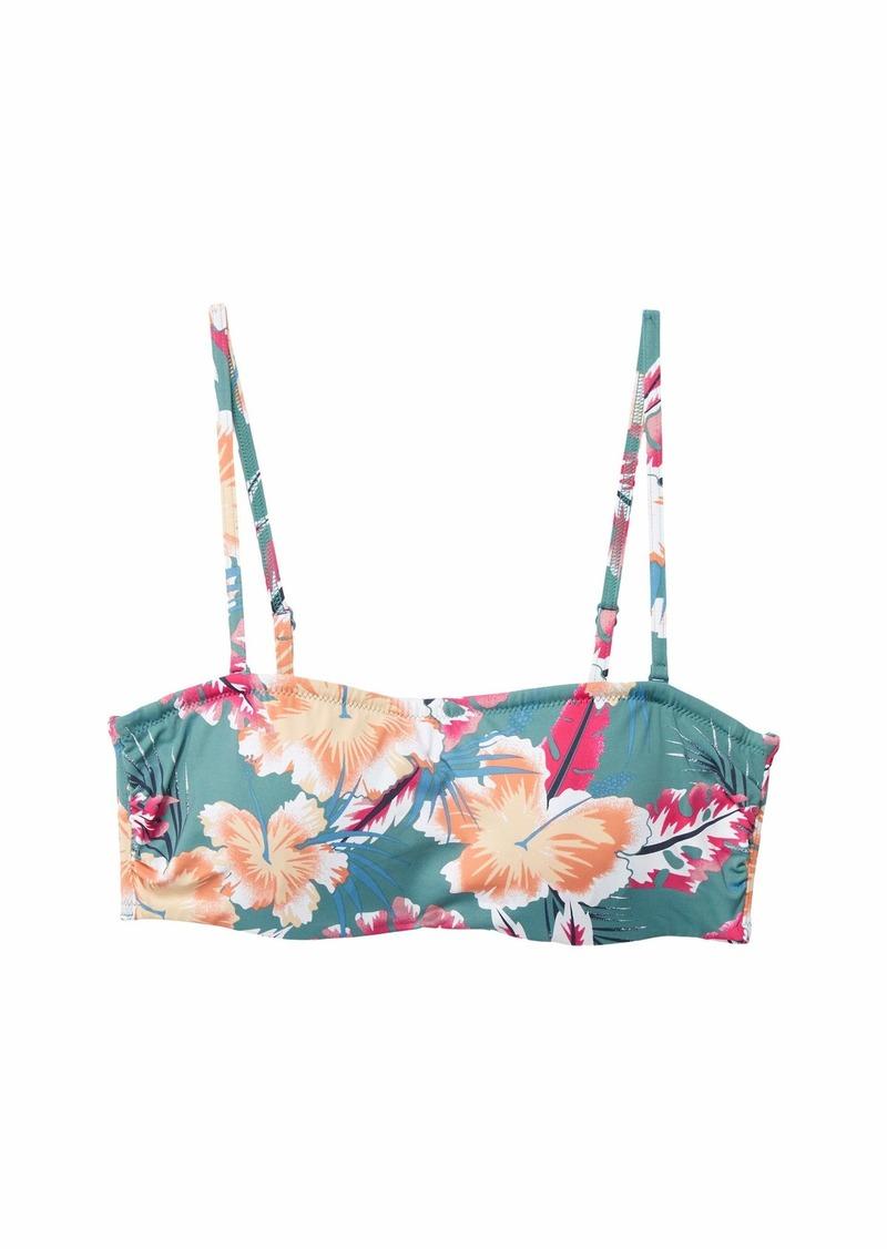 Roxy Junior's Printed Beach Classics Underwire Bandeau Top  S