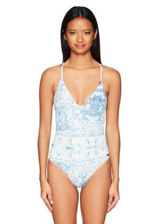 Roxy Junior's Printed Softly Love One Piece Swimsuit  M