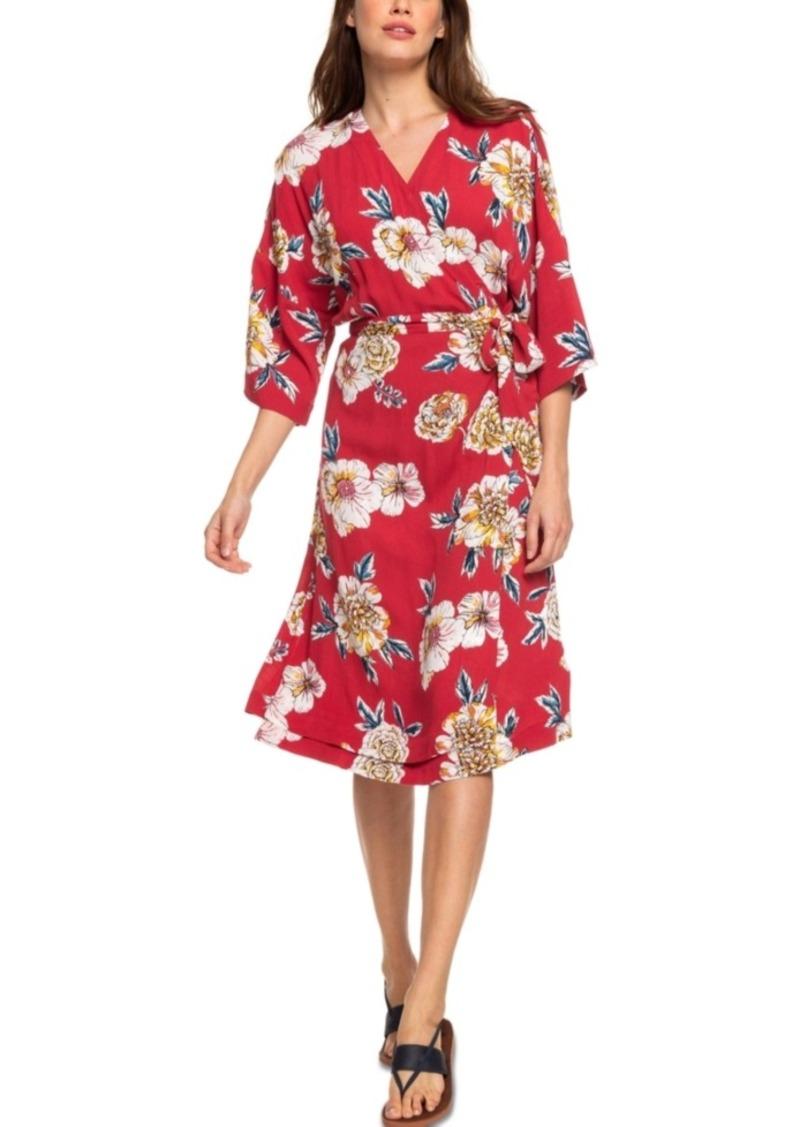 Roxy Juniors' Privy Places Kimono Wrap Dress