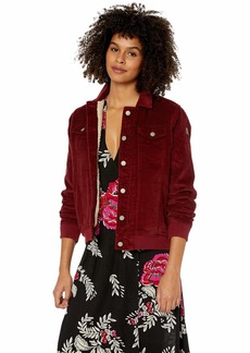 Roxy Junior's Redwood Giants Corduroy Jacket Oxblood red L