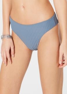 Roxy Juniors' Ribbed High-Leg Cheeky Bikini Bottoms Women's Swimsuit