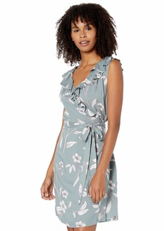 Roxy Junior's Rivello with You Wrap Ruffle Dress Trooper ALAPA S