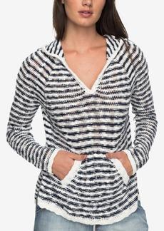 Roxy Juniors' Slouchy Morning Stripe Cotton Hoodie Sweater