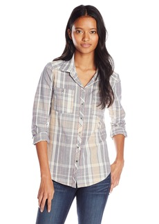 Roxy Junior's Sneaky Peaks Long Sleeve Plaid Shirt
