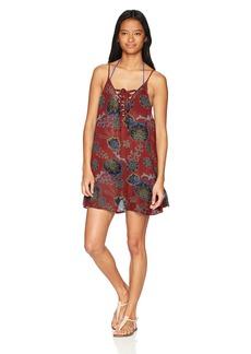 Roxy Junior's softly Love Coverup Dress Tandoori Spice Velvet tribes S