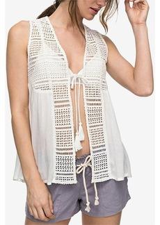 Roxy Juniors' Spirit Bird Crochet Vest