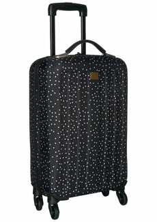 Roxy Junior's Stay True Wheelie Rolling Suitcase Black dots for Days