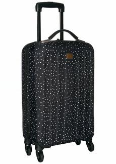 Roxy Junior's Stay Wheelie Rolling Suitcase true black dots for days