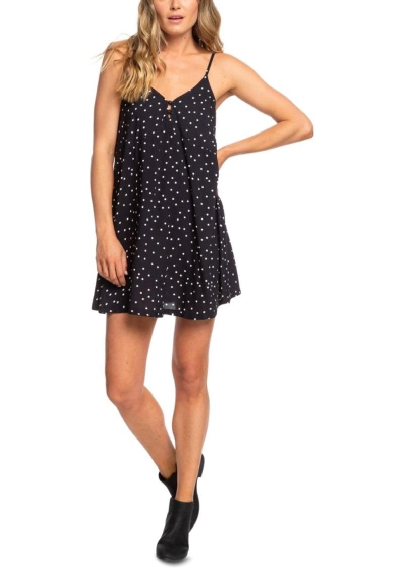 Roxy Juniors' Strappy Dot-Print Dress