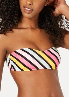 Roxy Juniors' Striped Bandeau Bikini Top Women's Swimsuit