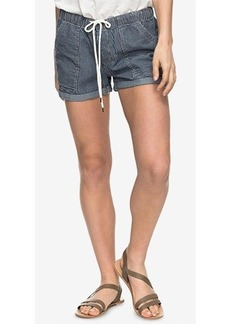 Roxy Juniors' Striped Chambray Soft Shorts