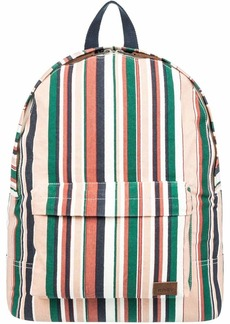 Roxy Junior's Sugar Baby Canvas Backpack Mood Indigo soul Stripes sample