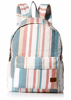 Roxy Women's Sugay Baby Canvas Backpack snow white retro vertical