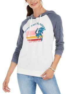 Roxy Juniors' Surf And Sunshine Graphic-Print Hoodie