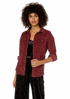 ROXY Junior's The Edge of Wildness Corduroy Shirt Jacket Oxblood red M