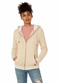 Roxy Junior's Trippin Sherpa Zip-Up Fleece Sweatshirt  S
