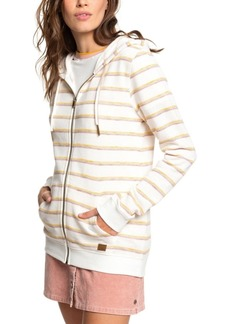 Roxy Juniors' Trippin Striped Zip-Front Hoodie