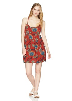 Roxy Junior's Tropical Sundance Dress Tandoori Spice Velvet tribes L