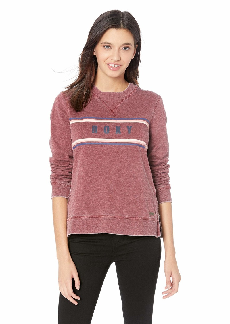 Roxy Junior's True Grace Pullover Sweatshirt Oxblood red L