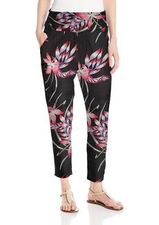 Roxy Junior's Ultra Violet Printed Pull On Beach Pants  S