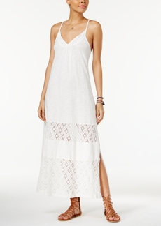 Roxy Juniors' Ur Mine Crochet-Trim Maxi Dress