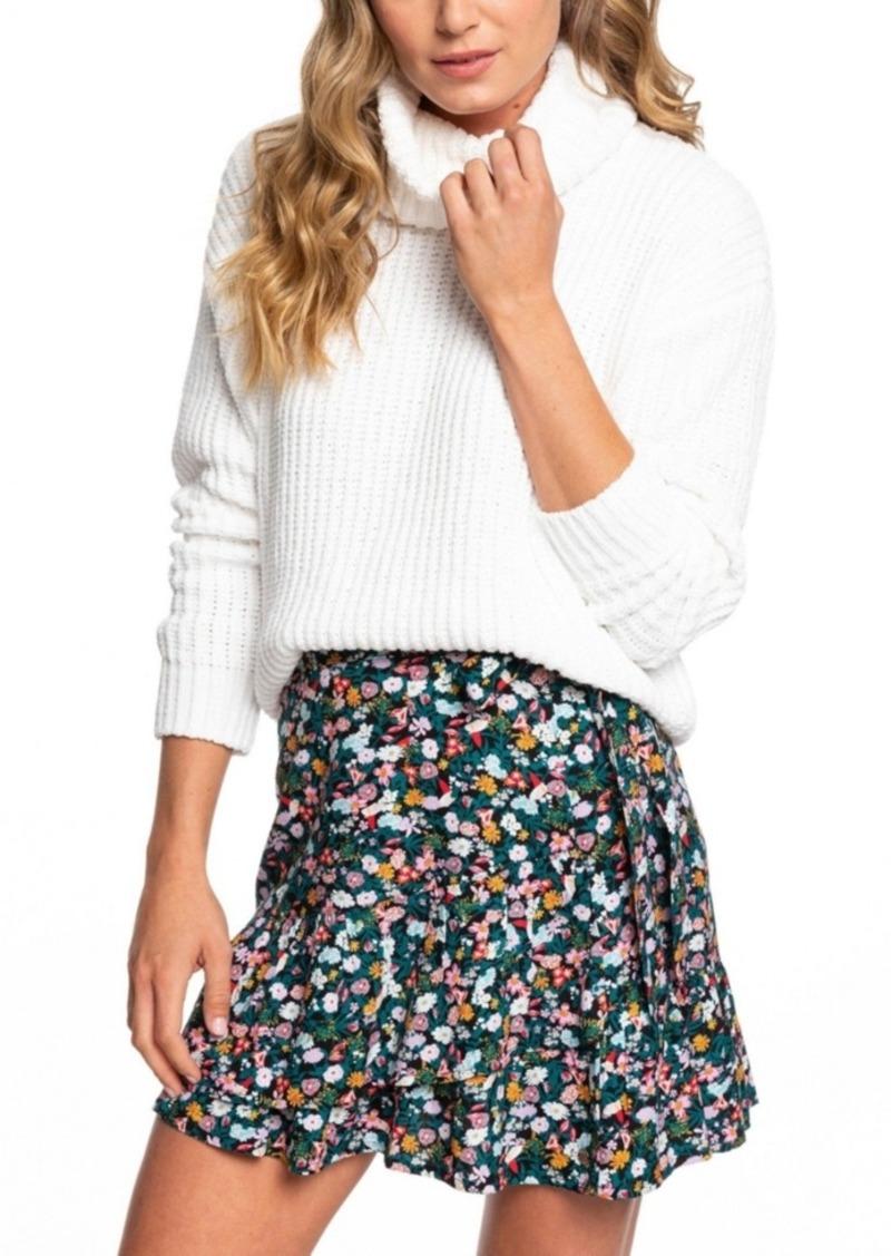 Roxy Juniors' Velvet Morning Turtleneck Sweater