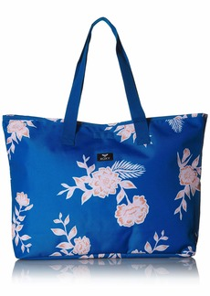 Roxy Junior's Wildflower Printed Tote Bag mykonos blue sample EGLANTINE 1SZ