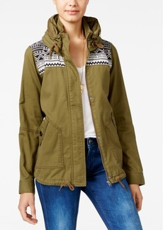 Roxy Juniors' Winter Cloud Hooded Military Jacket