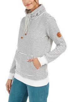 Roxy Juniors' Worlds Away Striped Fleece Sweatshirt