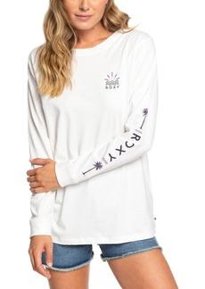 Roxy Juniors' Written In The Sand Cotton Graphic-Print T-Shirt