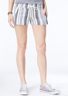 Roxy Juniors' Yarn Dye Striped Shorts