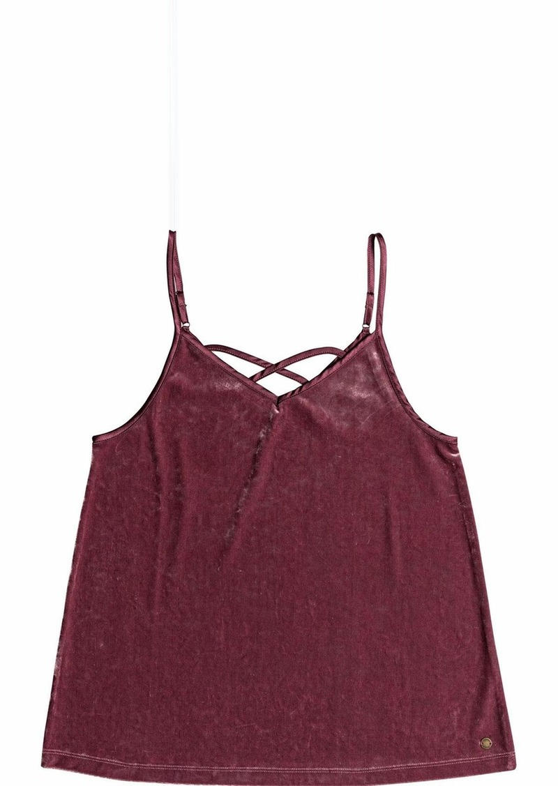 Roxy Junior's You are Pretty Velvet Tank Top Oxblood red XS