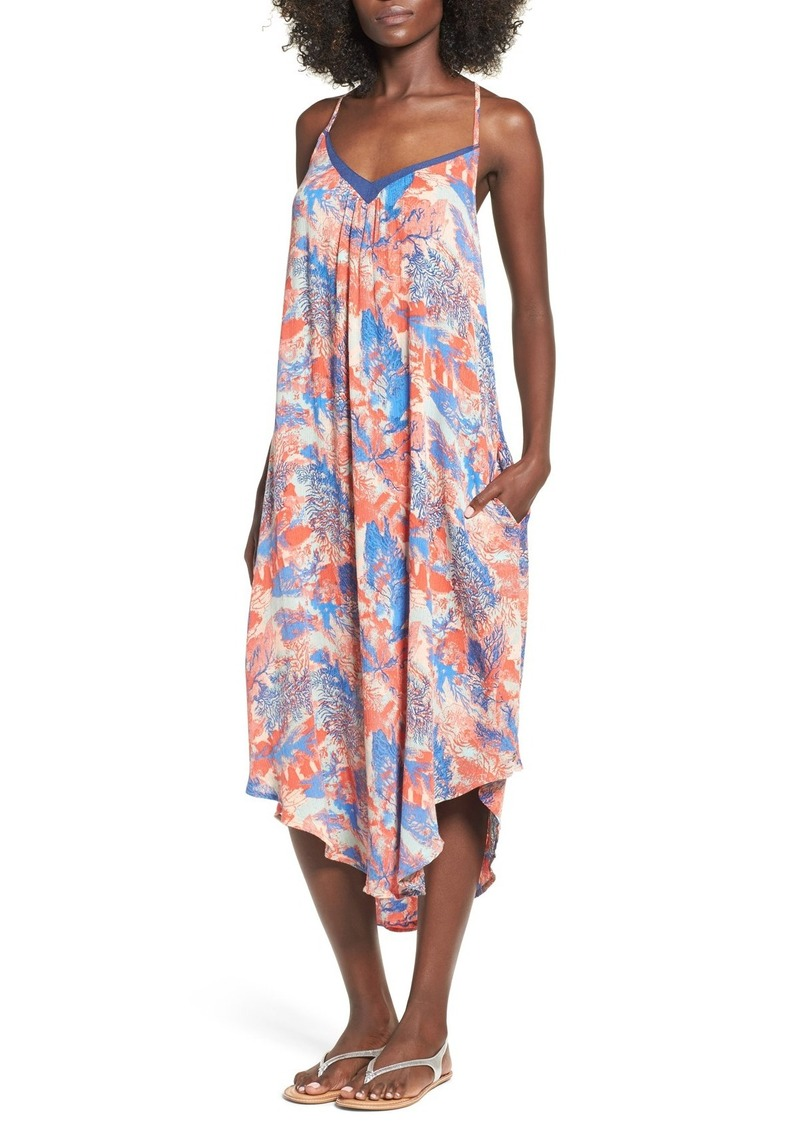 Roxy 'Kat Fish' Print Woven Midi Dress