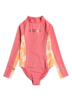 Roxy Kids' Free to Go One-Piece Rashguard Swimsuit (Big Girl)