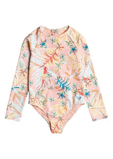 Roxy Kids' Friendly Story One-Piece Rashguard Swimsuit (Toddler & Little Girl)