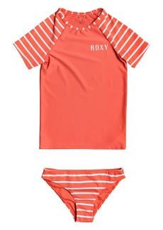 Roxy Kids' Two-Piece Rashguard Swimsuit (Big Girl)