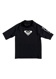 Roxy Kids' Whole Hearted Short Sleeve Rashguard (Toddler, Little Girl & Big Girl)